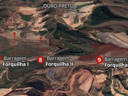 Rompimento de barragem da Vale em Ouro Preto ameaça atingir BH