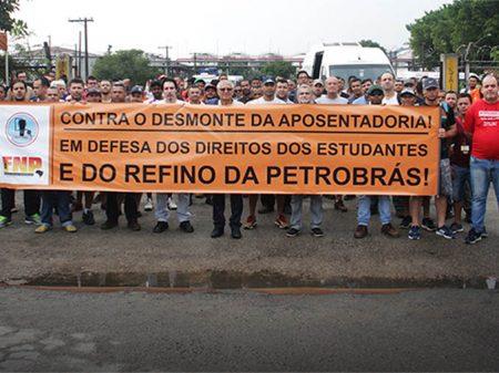 Petroleiros mobilizados contra a reforma da Previdência