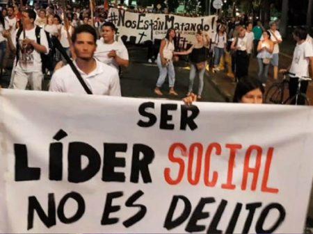 Atos em 30 países repudiam assassinatos de líderes colombianos