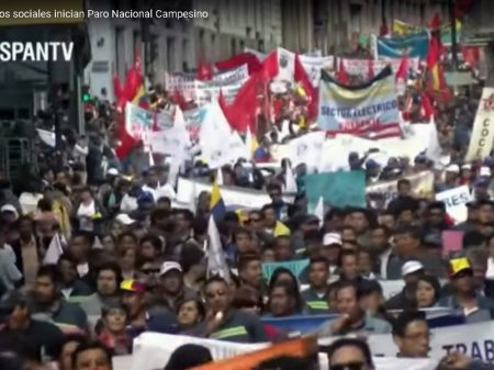 Greve geral para o Equador contra submissão ao FMI e entrega de Galápagos