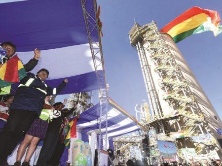 Bolívia inaugura moderna fábrica estatal de cimento