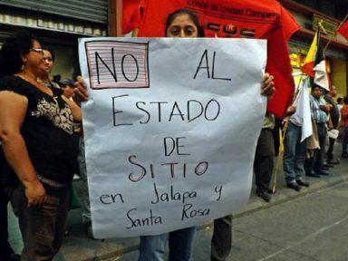 Movimentos sociais da Guatemala repudiam Estado de Sítio