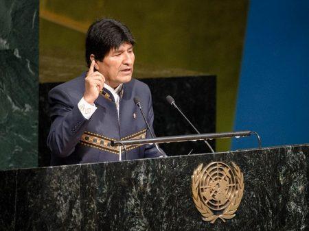 """Evo na ONU: """"14 anos de desenvolvimento da Bolívia reduzem pobreza e desemprego"""""""