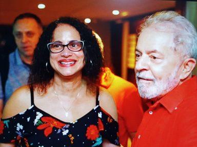 Lula é recepcionado pela governadora Luciana Santos durante visita a Pernambuco