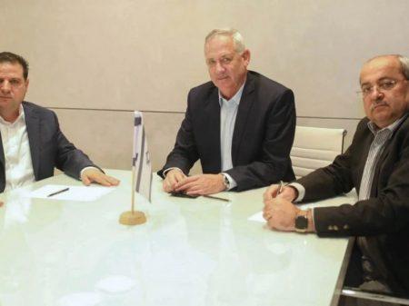 Nomeado para formar governo, Gantz se reúne com líderes árabes israelenses