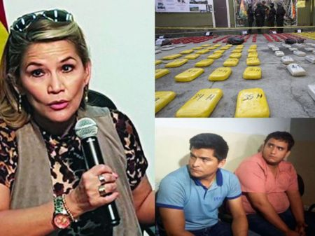 Bolsonaro reconhece Añez, tia de traficante preso com 480 kg de cocaína no MT