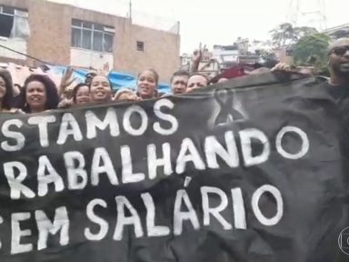 Sem salários, trabalhadores terceirizados da Saúde do Rio de Janeiro entram em greve