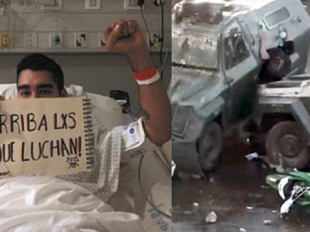 """Chileno atropelado por blindado: """"Somos a alma coletiva da libertação"""""""