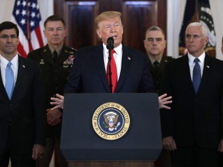 Para Trump, bombardeio às bases dos EUA 'parece recuo' do Irã