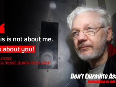 Tribunal de exceção inglês recusa tirar Assange de jaula de vidro