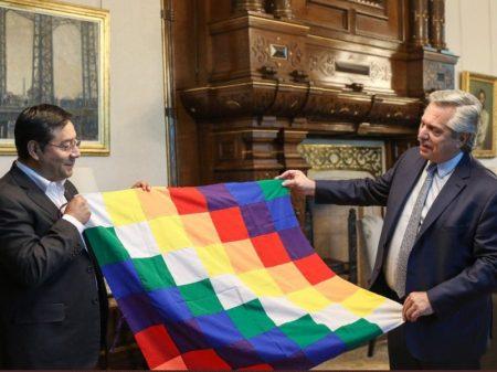 Fernández recebe Arce na Casa Rosada em reunião pela defesa da democracia