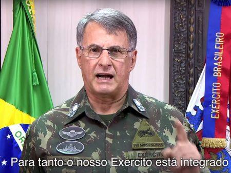"""Comandante do Exército: """"momento é de cuidado e prevenção ao coronavírus"""""""