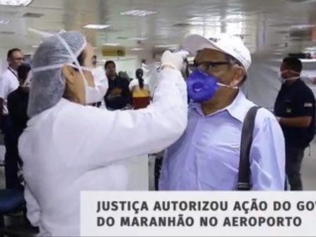 Maranhão testa passageiros nos aeroportos contra o corona