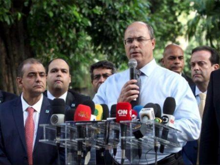 Witzel decreta emergência no Rio e quer que União repasse R$ 50 bi a Estados