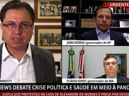 """João Dória e Flávio Dino: """"temos que vencer o vírus para resgatar a economia"""""""