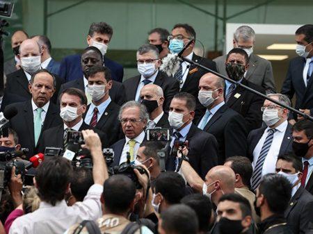 Líderes do Senado e da Câmara apoiam STF contra abusos de Bolsonaro