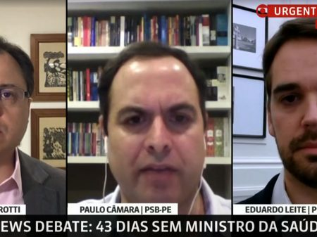 """Paulo Câmara e Eduardo Leite: Bolsonaro tem que """"respeitar as instituições e a democracia"""""""