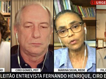 Para FHC, Ciro e Marina, só uma frente democrática para salvar o Brasil