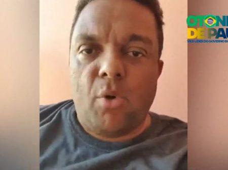 """Deputado agride o ministro Alexandre de Moraes e o xinga de """"lixo"""" e """"canalha"""""""