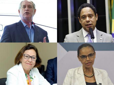 """Ciro, Marina, Orlando e Lidice afirmam que fake news """"deformam a sociedade e a democracia"""""""
