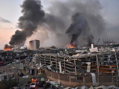 Explosões em Beirute deixam 135 mortos e 5.000 feridos