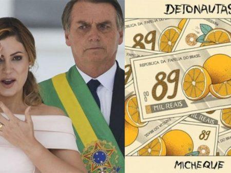 """""""Micheque"""" – Música dos Detonautas questiona depósitos de Queiroz para primeira-dama"""