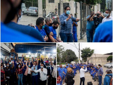 Orlando visita fábricas e  defende empregos, obras e o desenvolvimento de SP