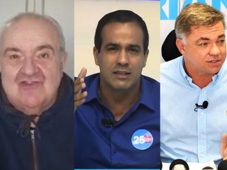 Ibope: Greca, Gean e Bruno lideram em Curitiba, Florianópolis e Salvador