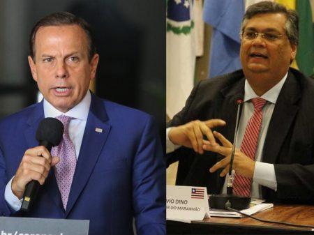 Flávio Dino e João Doria rechaçam provocações de Bolsonaro
