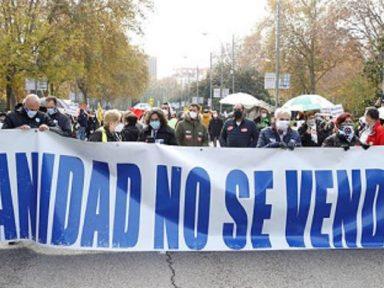 Defesa da Saúde Pública leva às ruas de Madri 10 mil profissionais do setor