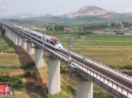Trem-bala de carga chinês alcança 350 km/h, recorde mundial