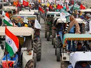 Agricultores marcham a Nova Délhi pela garantia de preço mínimo ao produtor