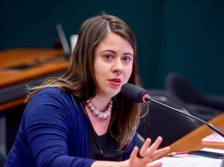Sâmia Bomfim, líder do Psol na Câmara, defende o voto em Baleia Rossi
