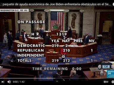 Câmara dos EUA aprova pacote emergencial de US$ 1,9 tri que eleva salário mínimo
