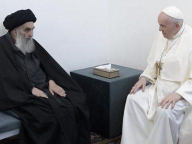 """Papa e aiatolá Sistani em reunião histórica: """"por unidade e liberdade no Iraque"""""""