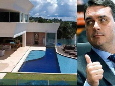 Inédito: escritura da mansão de luxo de Flávio Bolsonaro está cheia de tarjas pretas