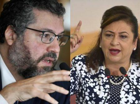 Ernesto Araújo ataca senadora Kátia Abreu e é repudiado por Pacheco: é 'marginal'