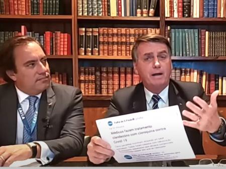 Agarrado à cloroquina, Bolsonaro ofende governadores e ataca a mídia