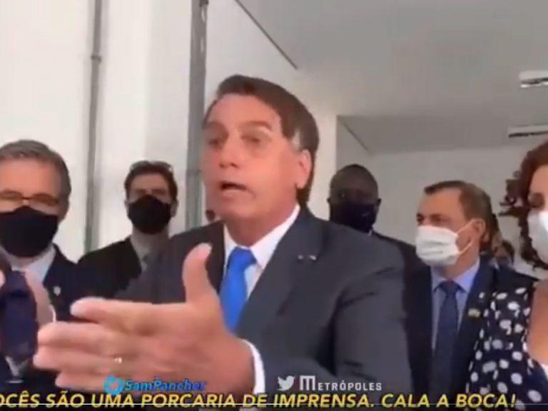 Surtado, Bolsonaro ataca Globo, CNN, xinga e manda seguidores calarem a boca