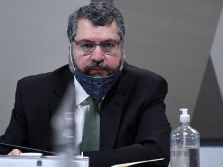 CPI: Ernesto Araújo aciona STF contra quebra de sigilo