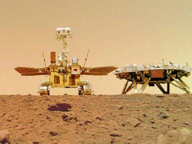 Robô chinês tira selfie em Marte