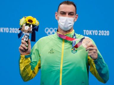 Fernando Scheffer garante o bronze na natação 200m livre