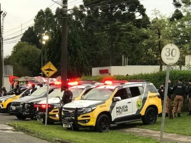 Força Sindical denuncia que empresas tentam intimidar greve com viaturas em Curitiba